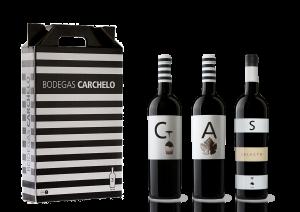Pack a la venta de selección bodegas carchelo jumilla: Carchelo, Altico y Selecto.