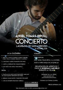 concierto bodegas carchelo lágrimas de san lorenzo